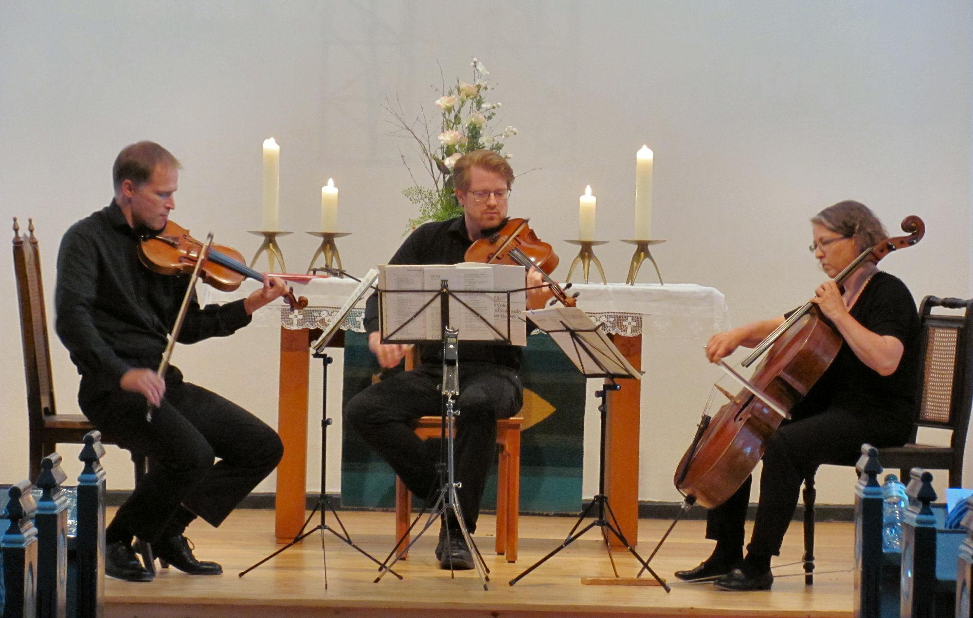 Artur-Grenz-Ensemble Kiel (Christian Gutekunst - Violine, David Grenz - Viola, Meike Hansen - Violoncello)
