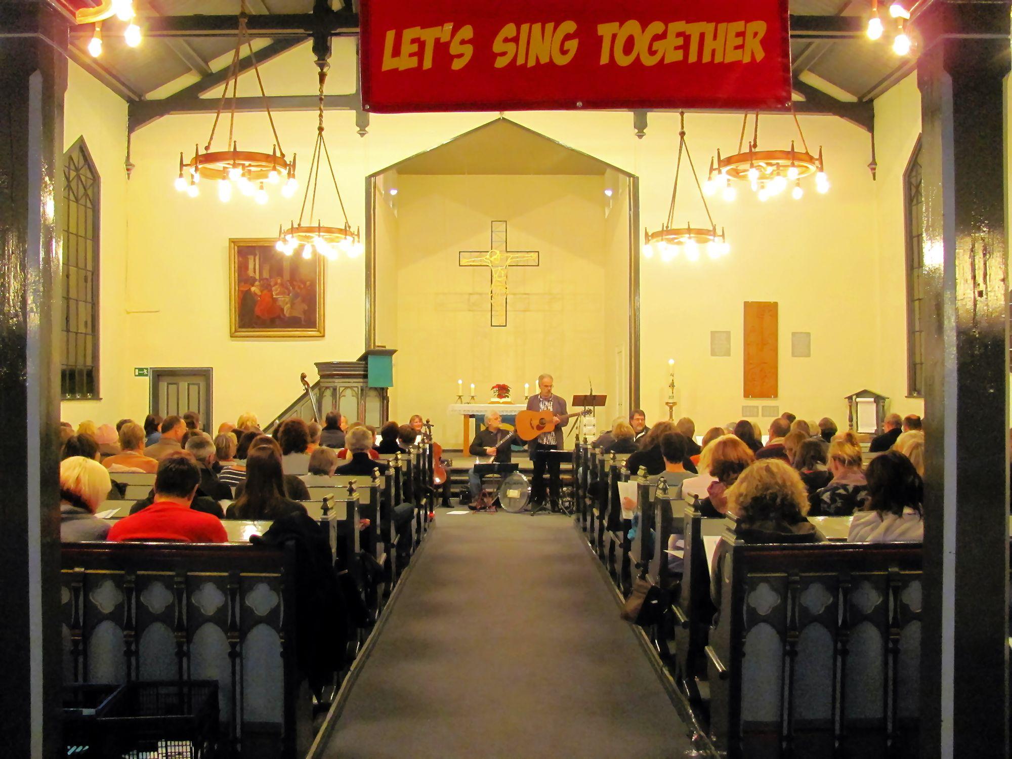 Das sangesfreudige Publikum