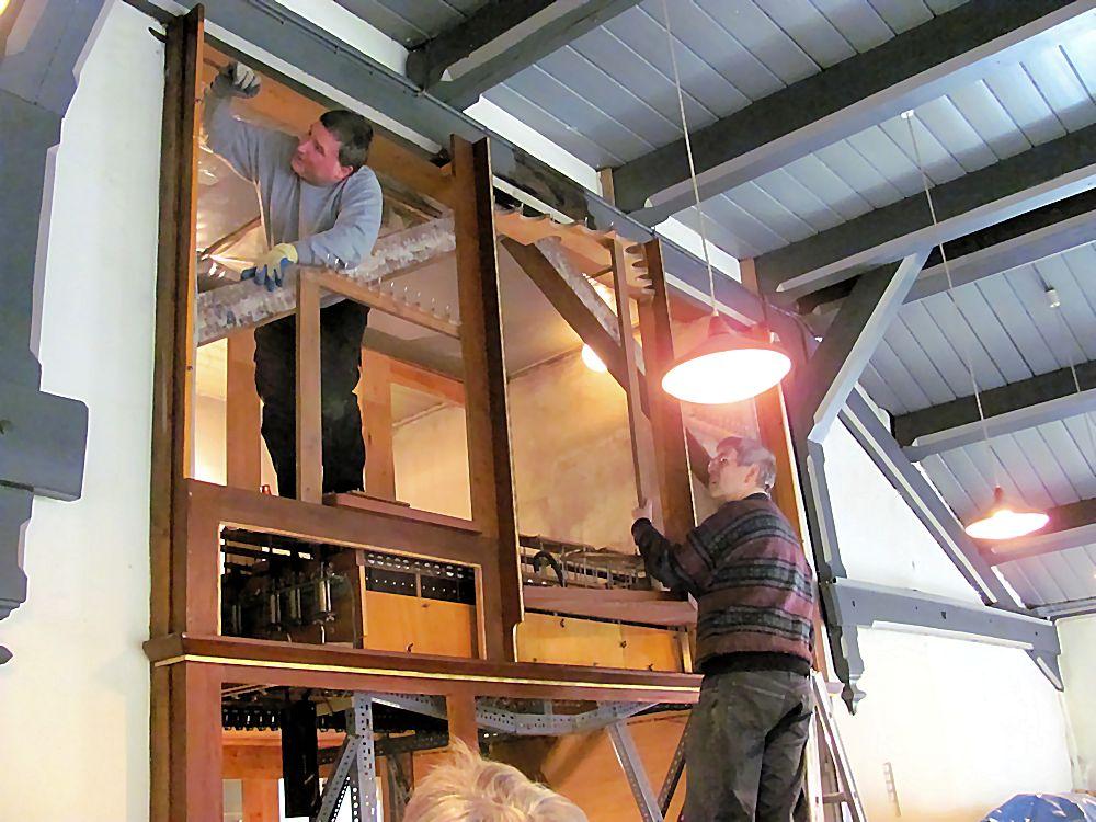 Ausbau des Orgelprospekts