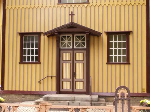 Frisch gestrichener Eingangsbereich