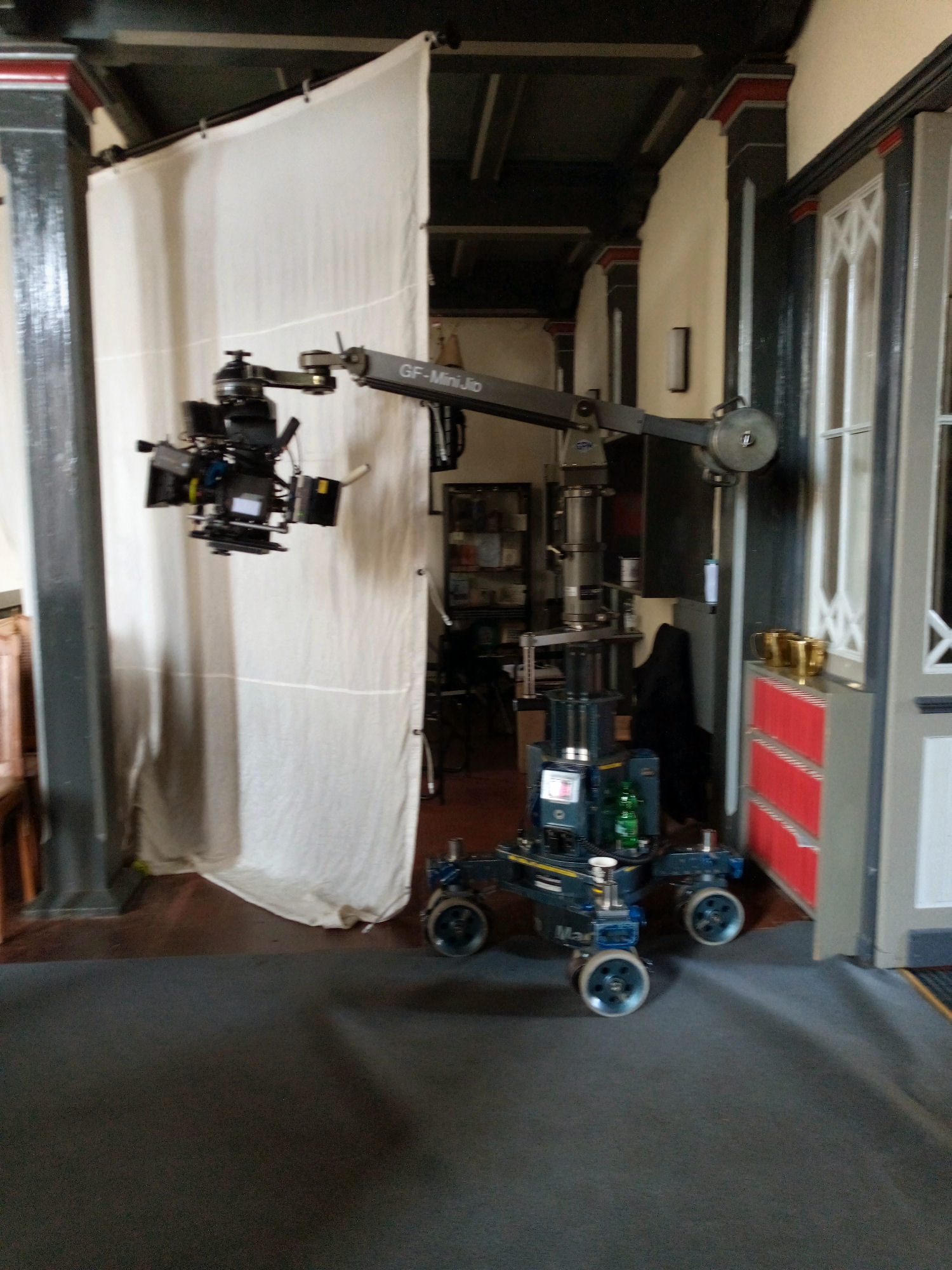 Der Kamerawagen im Mittelgang...