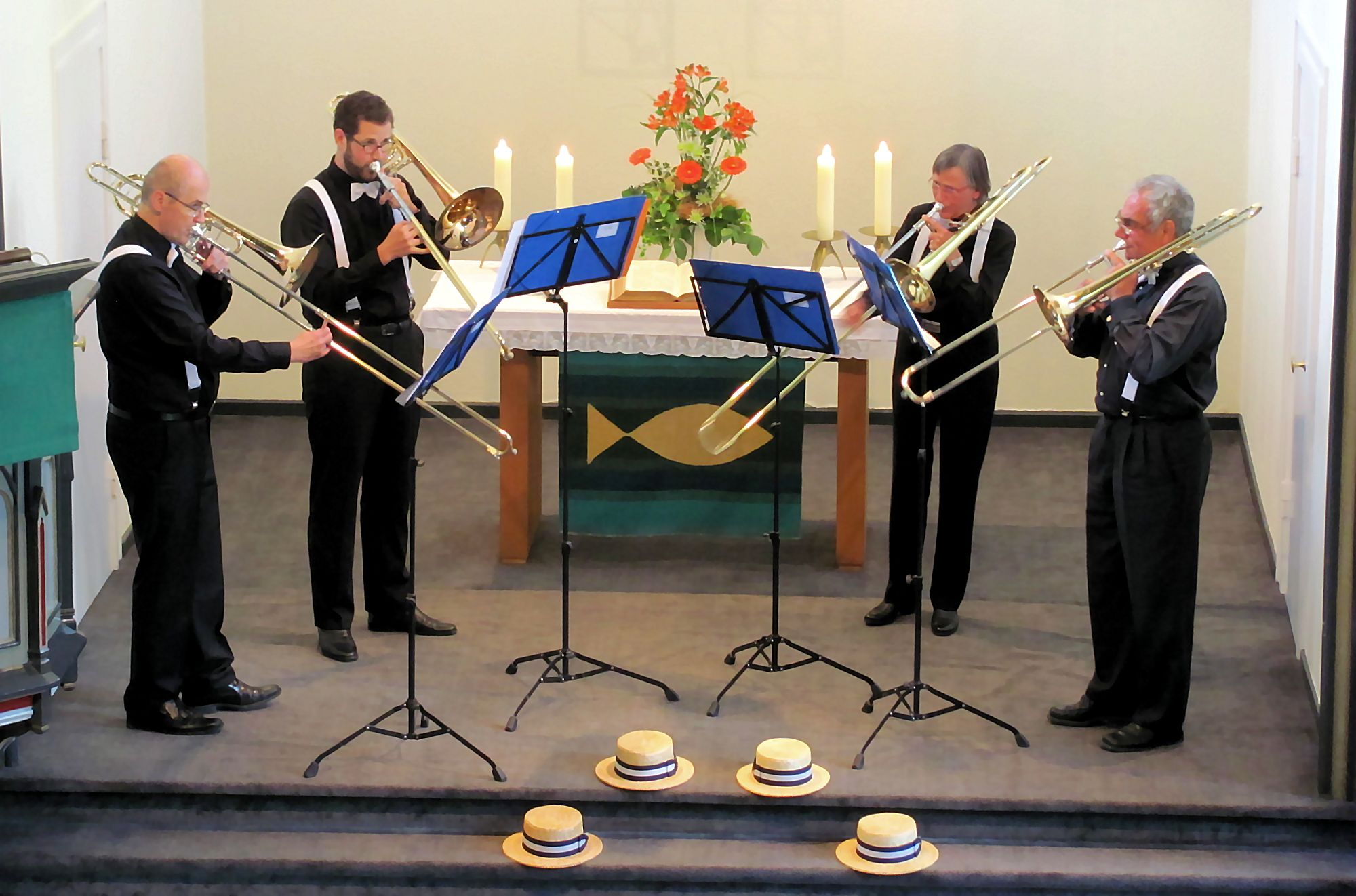 Trombonissimo (v.l. Peter Foerg, Christian Foerg, Doris Gutbier, Joachim Schuster)