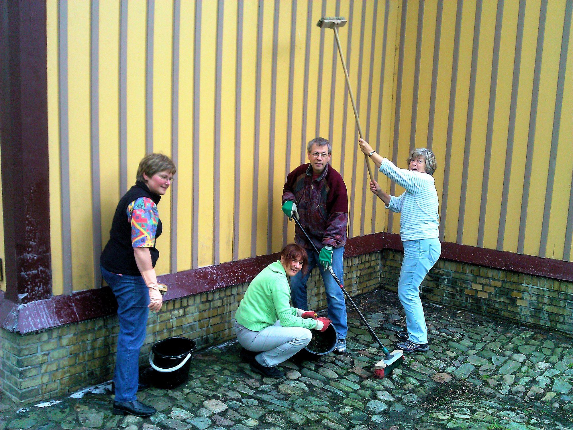 Waschen der Kirche